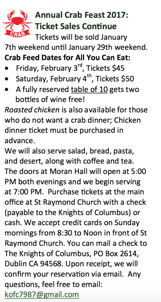 annual crab feed details
